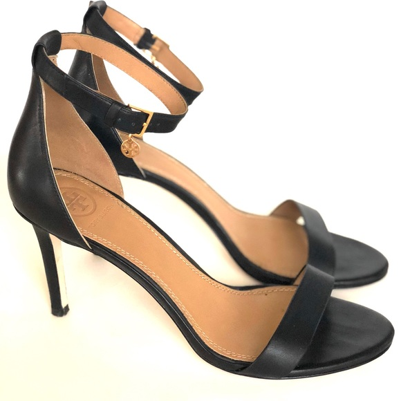 147a6200598 Tory Burch Ellie Black Ankle Strap Sandal Heel. M 5ba94c19c2e9fe223f9431db